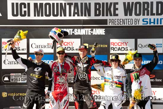 UCI MOUNTAIN BIKE WORLD CUP DOWNHILL #4 MOUNT-SAINT-ANNE QUEBEC CANADA JUNE 24 2012 Results